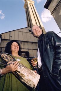 Elizabeth Rollins-Scott with John Evans 2003