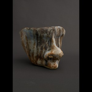 Ceramic Garden Sculpture - Sleeping Head