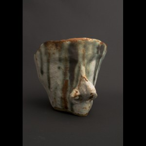 Ceramic Garden Sculpture - Sleeping Head