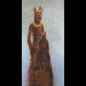 Mother and Child Paintings -Black Madonna