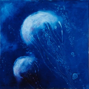 Jellyfish Paintings - Blue Jellyfish I