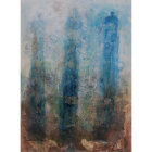Angel Paintings - Three Sisters Blue